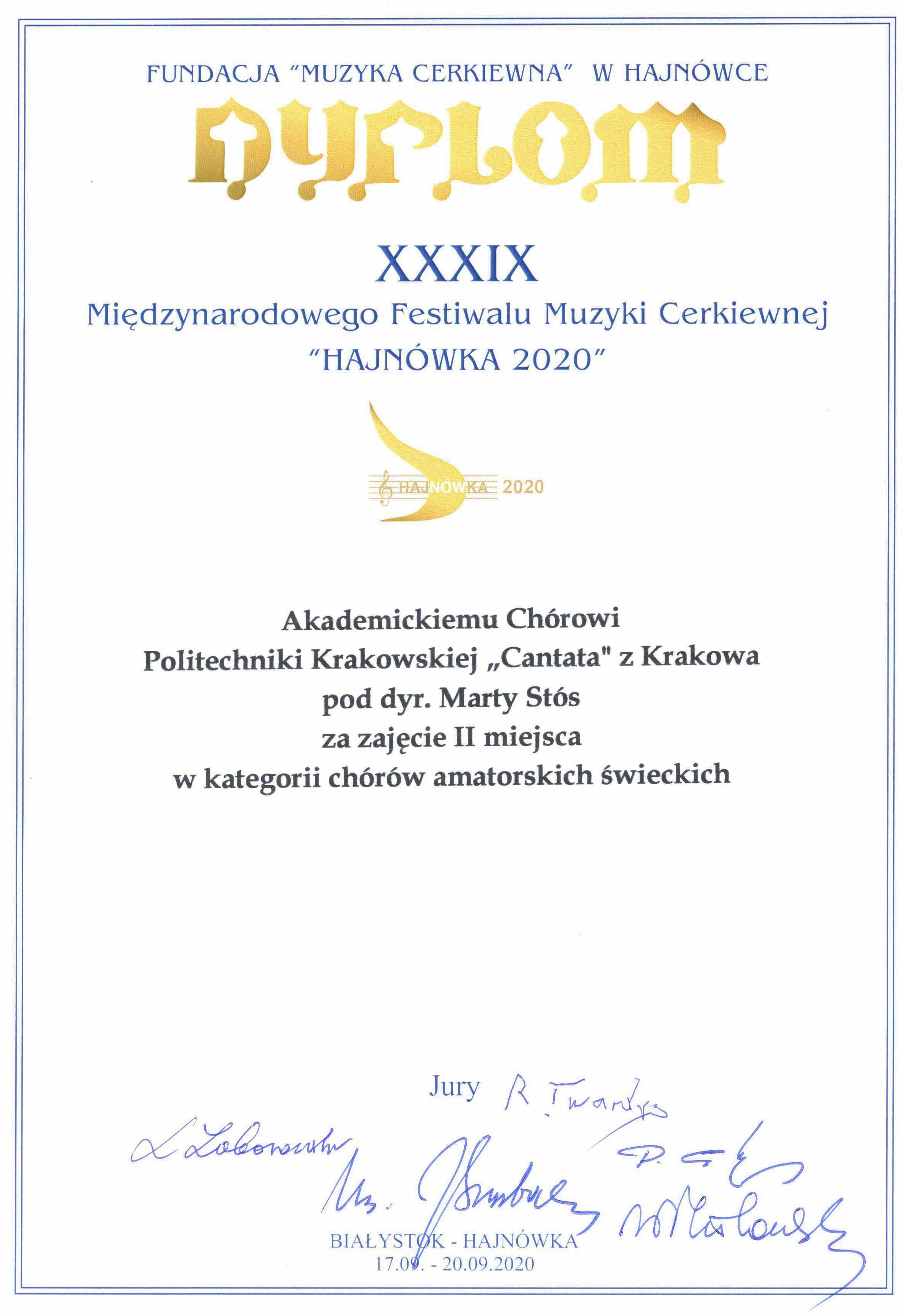 """Akademicki Chór Politechniki Krakowskiej """"Cantata"""""""